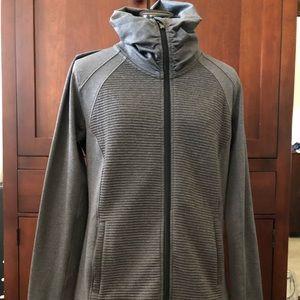 Athleta Heather Grey Zip Jacket size Large